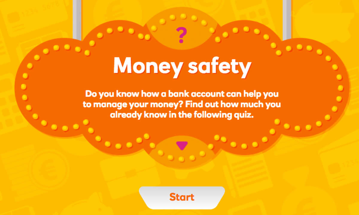 Interactive activity for How can I use a bank account?