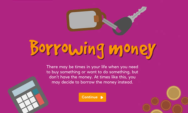 Borrowing money interactive activity