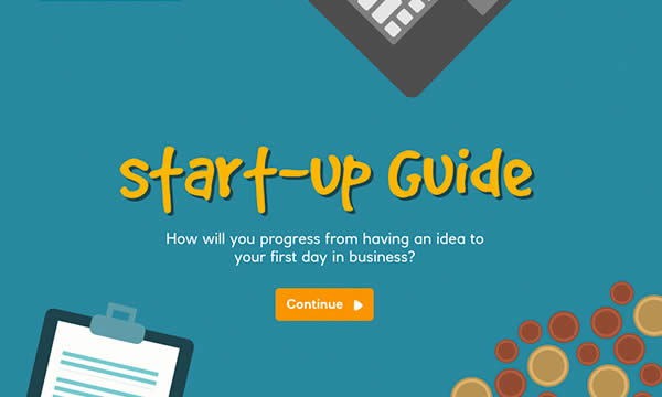Start-up guide interactive activity