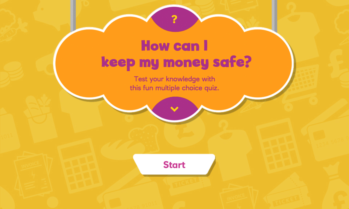 Interactive activity for How can I keep my money safe?