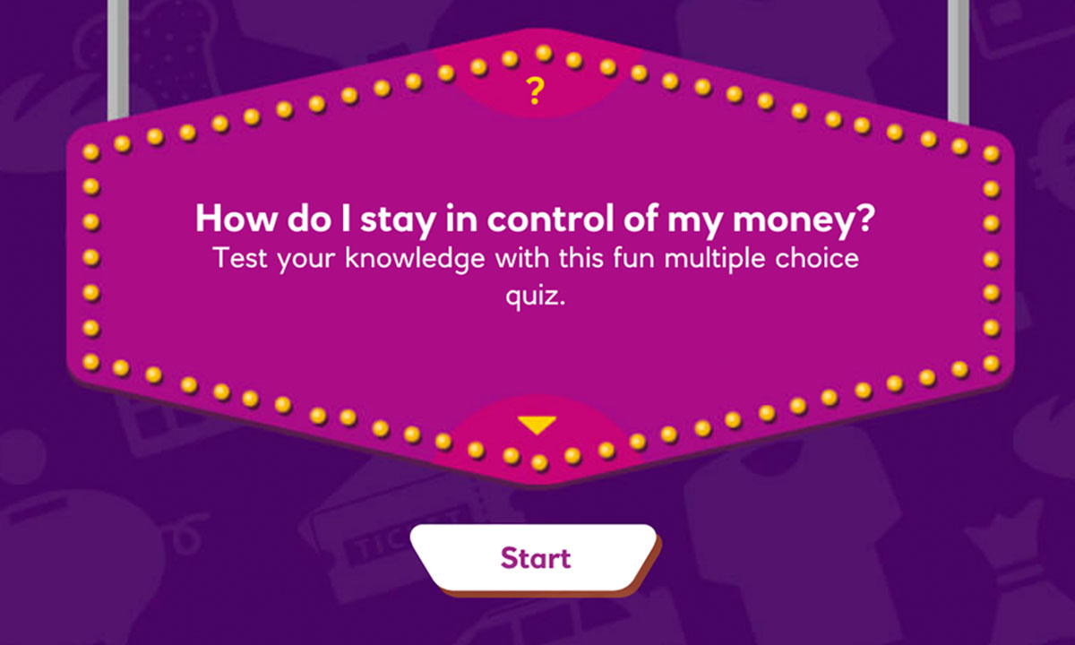 Interactive activity for How do I stay in control of my money?