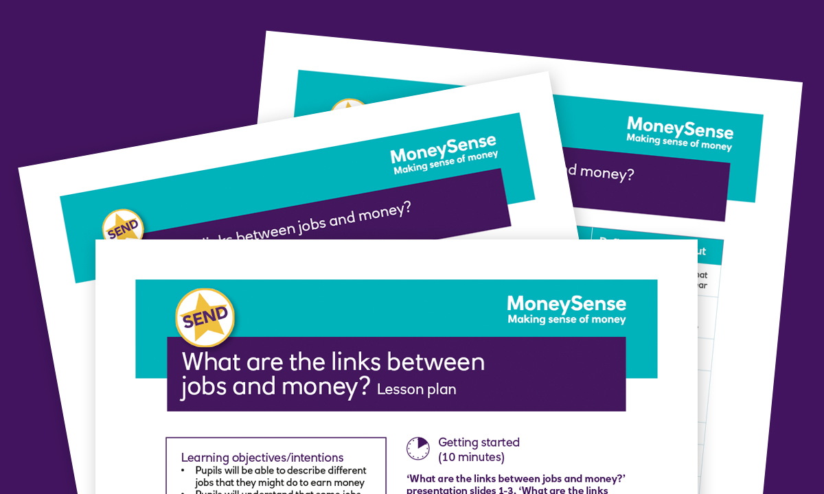 SEND lesson plan for What are the links between jobs and money?