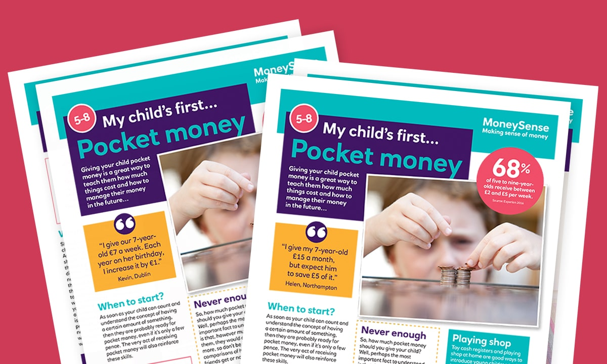 Money activities: My child's first... Pocket money