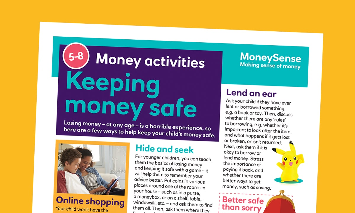 Money activities: Keeping money safe