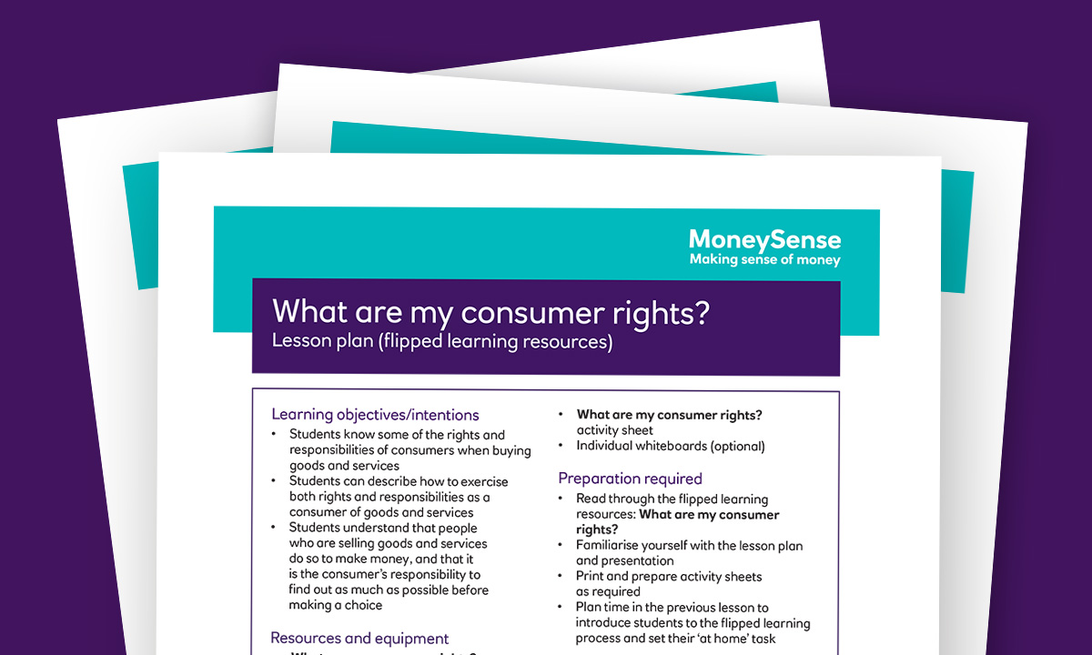 Lesson plan for What are my consumer rights?