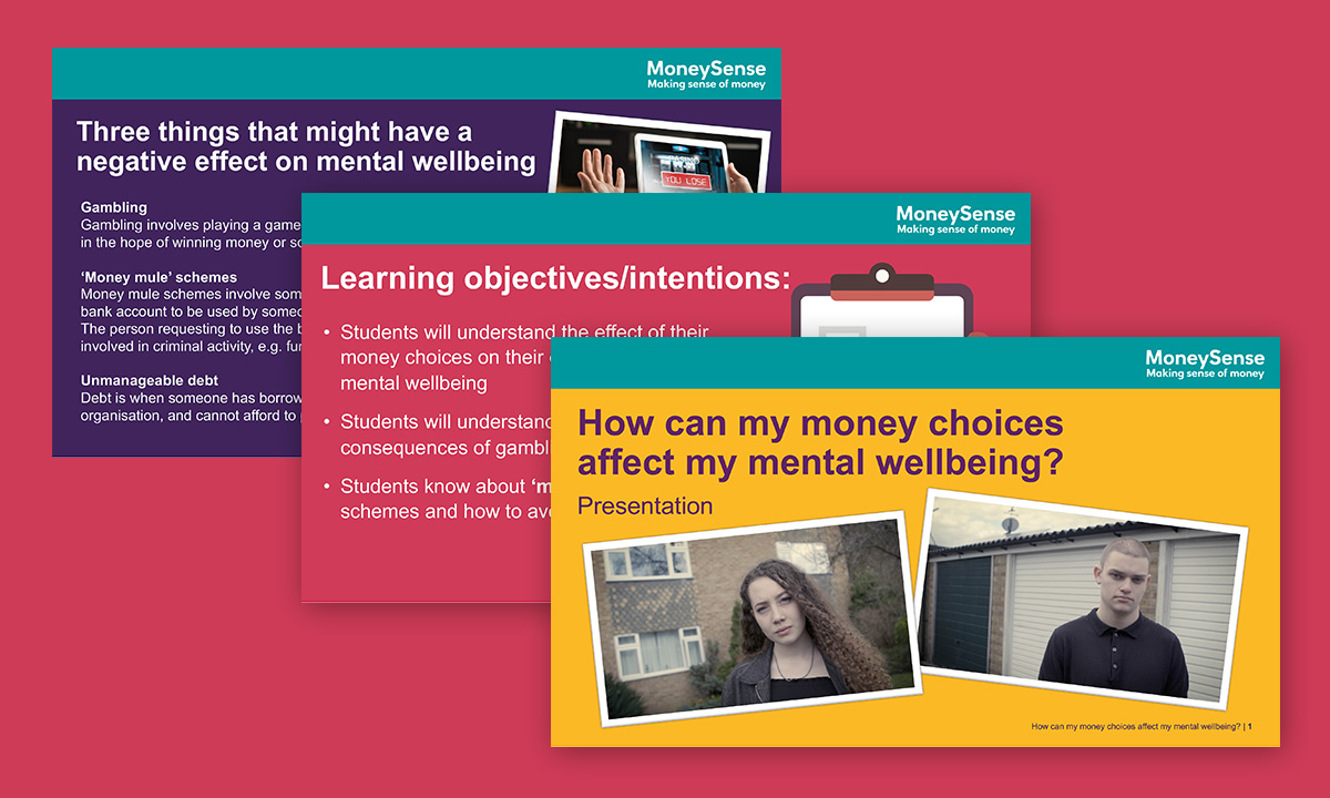Presenation for How can my money choices affect my mental wellbeing?