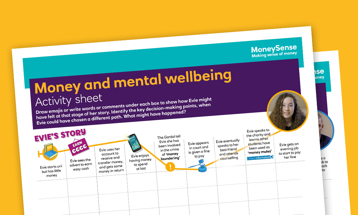 Activity sheet for How can my money choices affect my mental wellbeing?