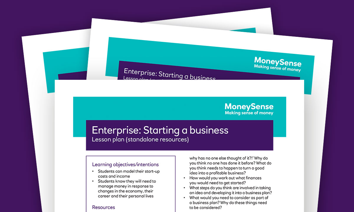 Lesson plan for Enterprise: Starting a business