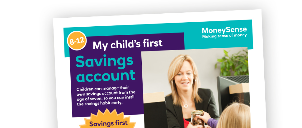 Money activities: My child's first...Savings account