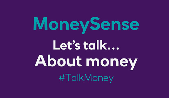 MoneySense Let's talk about money video screen